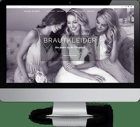 iMac mit Vanity Bridal Webseite